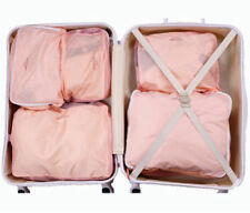 5X Pink Women Waterproof Packing Travel Luggage Organizer Clothes Storage Bags