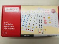 Auhagen 44647 Spur N, Eisenbahn-Signaltafeln und -Schilder #NEU in OVP#