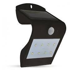 LED Solar Wall Light with PIR Sensor Black Body Gardens, Pools , Walkways etc