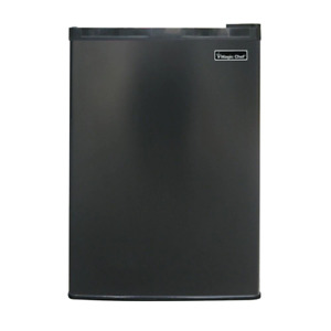 Magic Chef Mini Fridge 2.6 cu. ft. 1-Door 2-Shelves Flat-Back Design Black
