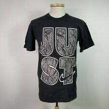 93d8e190a Vintage Nike Mens Small Black Just Do It Front and Back T Shirt Cotton