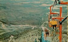 1969 Madonna Ski Area Chairlift Lift Jeffersonville Vermont VT Postcard D1