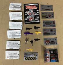 Vtg Transformers G2 Weapon Instruction Sticker Sheet Lot Grimlock Constructicons