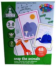 ELC Garçons Et Filles Snap les animaux carte Learing jeu jouet 48 cartes