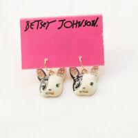 New Betsey Johnson Enamel Hound Drop Earrings Gift Fashion Women Party Jewelry