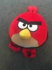 Angry Birds Peluche Pájaro Rojo Cabeza Forrado Mochila con correas ajustables,