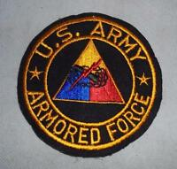 c. WWII/1950s US Army Armored Force Uniform Badge Patch