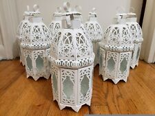 White Lattice Lantern (Decoration and/or Centerpieces)