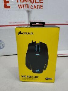 Corsair M65 RGB Elite (Black) Tunable FPS Gaming Mouse OPEN BOX **MINT**