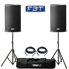 2x FBT X-Lite 10A Professional 1000W DJ Disco Club Active PA Speakers with Mixer