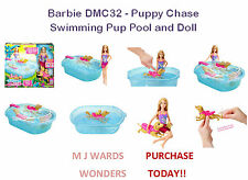 Barbie DMC32 - Puppy Chase Swimming Pup Pool and Doll - Colour Change Swimsuit