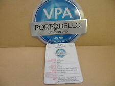 Portpbello VPA ale Pump Clip face pub Collectible w/ Taste Note 34