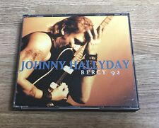 Coffret double CD Johnny HALLYDAY Bercy 92 avec papiers promo d'origine EXC+