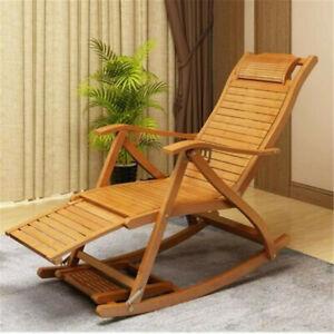 Adjustable Rocking Lounge Chair Recliner w/ FootrestAntique Reproduction Design