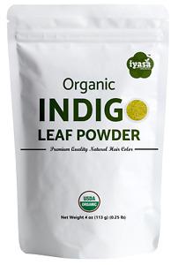 Organic Indigo powder, Black hair Dye when used with Henna, Pure, 4,8,16 ounce