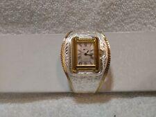 Montana Silversmiths Silver Gold Engraved Cuff Watch X5037 Silver Face New Batt