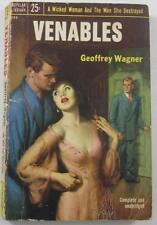 Venables Geoffrey Wagner 1953 Popular Library #490 1St Paperback Ed Incest Topic