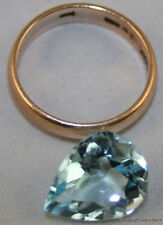 NATURAL BLUE LOOSE TOPAZ GEMSTONE 11X14MM FACETED PEAR 7.4CT GEM TZ17
