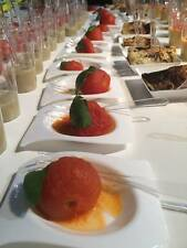 50 PZ PIATTINO FLAT FORMA BIANCO FINGER FOOD APERITIVI PARTY