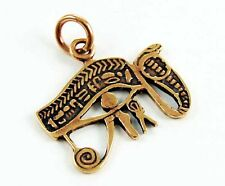 EGYPTIAN EYE OF HORUS / HIEROGLYPH SYMBOL BRONZE PENDANT ALL SEEING