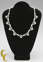 Tiffany & Co 5.00 carat Diamond & Pearl Platinum Necklace