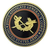 U.S. United States Army Judge Advocate General's Corps JAG Gold Plated Coin