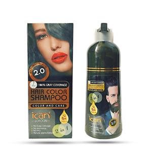 Instant Hair Dye Black Shampoo Fast Dye Grey& White Moisturising 400ml UK seller