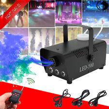 500W Nebelmaschine Rauch Fernbedienung LED RGB Bühnenlicht Party Xmas Halloween