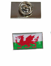 with free organza pouch Wales Flag Tie Pin