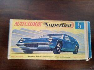 Matchbox Superfast #5 Lotus Europa (original Lesney 1969) Blue