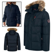 Tokyo Laundry Parka Coat Men's Hooded Quilted Padded Puffer Jacket Warm Winter