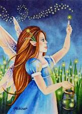 40% OFF SALE! ACEO Limited Edition Print Pixie No. 2 Lightning Bug Fairy Art