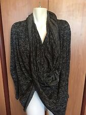 DKNY Jeans Women Top Cardigan Sweater Large Wraparound Scarf Around Neck New NWT