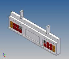 Hscpl 8-8 - DTM à Carson Caravane Cadre 1:14 (tamiya) pour 2x8 3mm LED