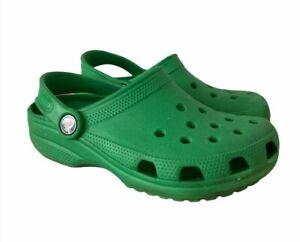 Crocs Clogs Slip On Shoes Green Youth Sz  J1
