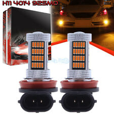 2Pcs H11 H8 H9 H16 4014 92Smd Led Fog Light Conversion Kit Super 3000K Yellow