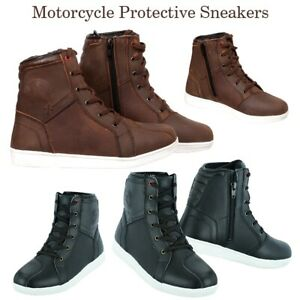 Motorbike Riding Racing Boots Motorcycle Leather Shoes Waterproof CE Armoured UK