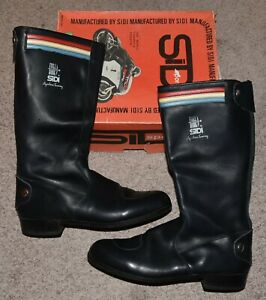 Vintage Sidi Agostini Leather Cafe Motorcycle Boots 11 Triumph  MADE IN ITALY