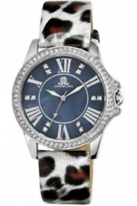 Reloj Mujer JLo By JENNIFER LOPEZ JL-2845BMSV Cuero Manchado Gris Swarovski