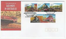 2004 COVER/FIRST DAY OF ISSUE '150th ANNIVERSARY OF AUSTRALIAN RAILWAYS' - MINT