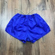 "Vintage 80's Rucanor Shiny Nylon Shorts Glanz Ibiza Running Size 36"" 7 (N115)"