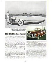 1951 1952 Hudson Hornet Article - Must See !!