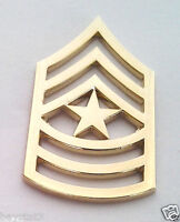 US ARMY RANK E9 SGT. MAJOR (GOLD) Military Veteran Hat Pin P15257 EE
