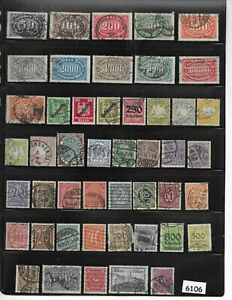 #6106    Early Germany Postage Stamps / 100+ all different used before 1930