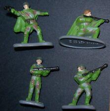 Star Wars ROTJ Micro Machines Endor Rebel Strike Trooper Team 4 Figure Lot N