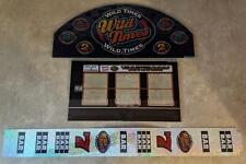 "Bally ""Wild Times"" Slot Machine Glass 2pc w/Reel Slides FAST FREE SHIP!! X-12"