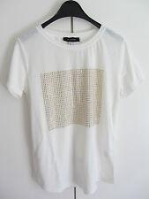 T-Shirt Primark Atmosphere weiß wollweiß Nieten Gr. 38 NEU