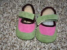NEW SMALLER SEE KAI RUN PINK GREEN LEATHER  SHOES INFANT BABY 0-6