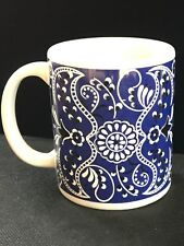 Coffee Mug Cup Blue and White Flower Pattern