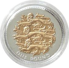 2008 Royal Mint Three Lions of England £1 One Pound Silver Gold Proof Coin